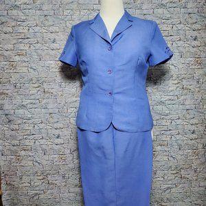 Emma James Linen Short Sleeve Pant Suit SZ 12P NWO